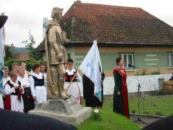 Hármasfalu - Szent Imre szobrának a felavatásán