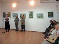 Kovács Géza festőművész kiállításának megnyitója